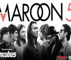 Maroon 5 and invited band Incubus give a concert in Lima's National Stadium in September 2017