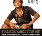 Bruno Mars comes to Lima in November as part of his 24K Magic World Tour 2017