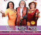 Eva Ayllon, Manuelcha Prado and Amanda Portales together on stage for the Serenata Criolla Andina in Lima