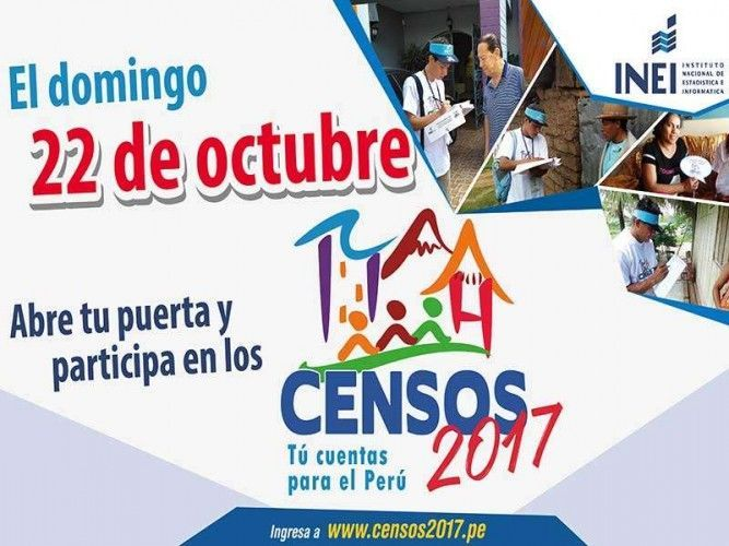 As every 10 years, Peru carries out a population Census on October 22, 2017