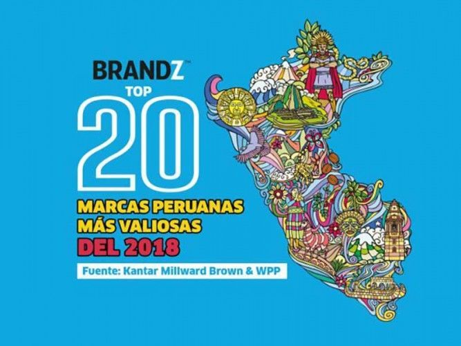 BrandZ Top 20 Most Valuable Peruvian Brands 2018; picture: mercadonegro.pe