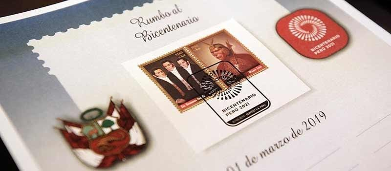 new-series-of-stamps-and-postmarks-for-bicentennial-of-Peru
