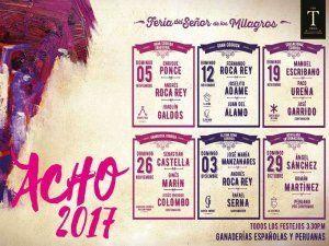 Acho 2017 - Feria Taurina del Señor de los Milagros, bullfight festival in Lima
