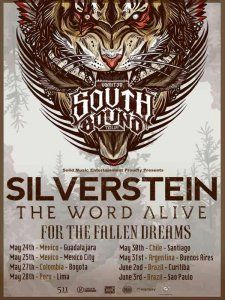Silverstein, The World Alive and For the Fallen Dreams together in Lima on their South Bound Tour 2017