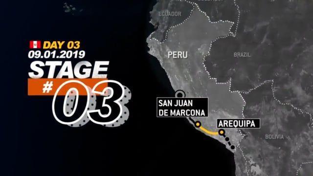 Stage 3 Dakar Rally 2019 Peru San Juan de Marcona to Arequipa