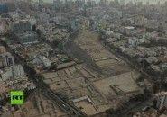 Archeological sites in Lima - Peru damaged by urbanization